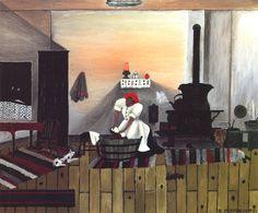 Saturday Night Bath - Horace Pippin, 1945