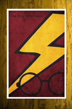 Harry Potter retro movie poster