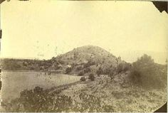 Pyramid of the Moon at Teotihuacan, Mexico in 1858 prior to excavations