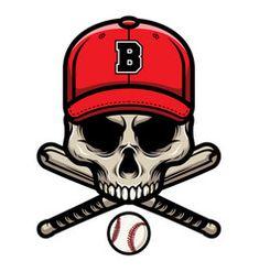 Skull baseball mascot Royalty Free Vector Image Free Vector Images, Vector Free, Baseball Batter, Baseball Mascots, Badge, Skull, Darth Vader, Illustration, Royalty