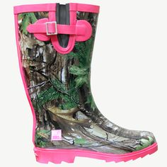 "realtree girl shoes | Women's Realtree Xtra with Hot Pink Camo ""Ms. JoJo"" Rain Boot"