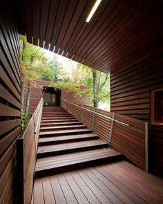 Breathtaking wooden #walkway! The Balnea Pavillon is designed by Blouin Tardif Architecture and is located in #Bromont #Canada // Photo by Steve Montpetit #restlessarch - Architecture and Home Decor - Bedroom - Bathroom - Kitchen And Living Room Interior Design Decorating Ideas - #architecture #design #interiordesign #homedesign #architect #architectural #homedecor #realestate #contemporaryart #inspiration #creative #decor #decoration