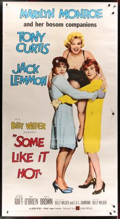 Some Like It Hot! first time i saw this movie i was in middle school and our teacher let us watch it in class. Watching it now as a parent, WHAT WAS SHE THINKING! love this movie tho!