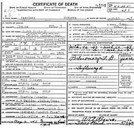 Pernell Roberts Death Certificate