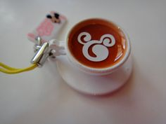 Disney Japanese Coffee Cup Charm  Cell Phone by SFMissionFinds, $5.00