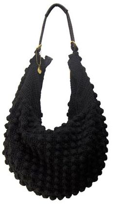 Knitted Sling Bag : knit sling style hobo shoulder bag more crochet bags knitted bags bags ...