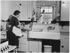 Interesting....Lillian Gilbreth's research determined how our modern kitchens are laid out. (That's not her on the left, by the way.)