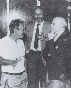 """Antonino Caponnetto, succeduto a Rocco Chinnici a capo del """"Pool antimafia"""" con i suoi collaboratori Giovanni Falcone e Paolo Borsellino"""