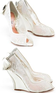 Editor's Pick: Wedge Wedding Shoes from Aruna Seth