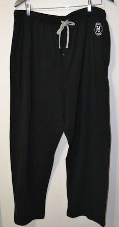 NWT Tommy Hilfiger hot sleepwear drawstring soft elastic waist pant black Sz L   #TommyHilfiger #sleepwearpajamas