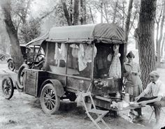 Model T Ford decked out for Camping