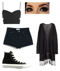 """Summer"" by melenah ❤ liked on Polyvore featuring Converse, H&M, Topshop and MANGO"