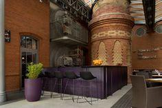 Krzesła barowe Mishell w hotelu Blow Up w Poznaniu.