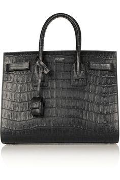 Saint Laurent|Sac de Jour small croc-effect leather tote|NET-A-PORTER.COM