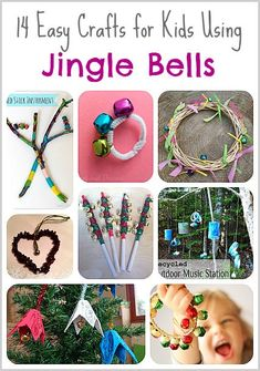 14 Easy Crafts for Kids Using JINGLE BELLS! Perfect for Christmas crafts or making music any time of year!