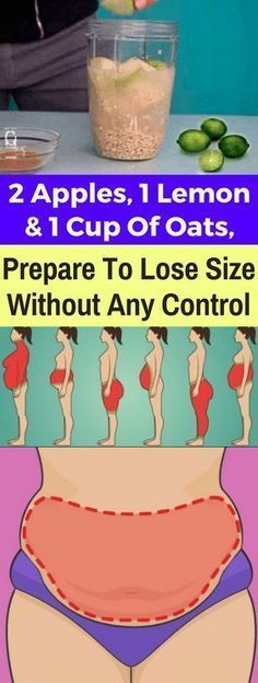 2 Apples, 1 Lemon And 1 Cup Of Oats, Prepare To Lose Size Without Any Control – healthycatcher