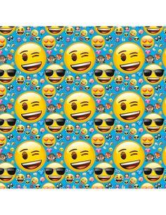 Papel de regalo Emoji™: Este rollo de papel de regalo tiene licencia oficialEmoji™.Mide alrededor de 76,2x152 cm y tiene estampado de…