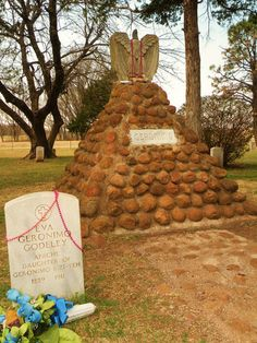 Geronimo's grave in the Apache Cemetery, Ft. Sill, OK.