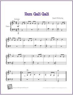 Zum Gali Gali   Free Sheet Music for Easy Piano - http://makingmusicfun.net/htm/f_printit_free_printable_sheet_music/zum-gali-gali-piano.htm