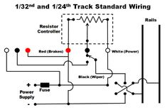 Typical 4Lane Track wiring Diagram slot cars Slot