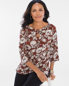 Twist-Front Scrolls Top - Chicos