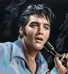 "( 2014 & 2015 IN MEMORY OF ★ † ELVIS PRESLEY "" ♪♫♪♪ Rock & roll / pop / rockabilly / country / blues / gospel / rhythm & blues "" Elvis art by Sara Lynn Sanders. "" ) ★ † ♪♫♪♪ Elvis Aaron Presley - Tuesday, January 08, 1935 - 5' 11¾"" - Tupelo, Mississippi, USA. Died; Tuesday, August 16, 1977 (aged of 42) Resting place Graceland, Memphis, Tennessee, USA. Cause of death: (cardiac arrhythmia)."