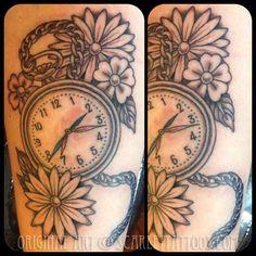 Tattoo Sketches, Tattoo Drawings, Red Bird Tattoos, Clock For Kids, Watch Tattoos, Tattoos For Kids, Tatting, Pocket Watch, Tattoo Ideas