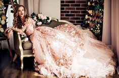 Florido Vestido de Novia (Olga Malyarova)