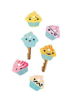 Cupcake keycaps.  $8 at Urban Outfitters, but available elsewhere, too.