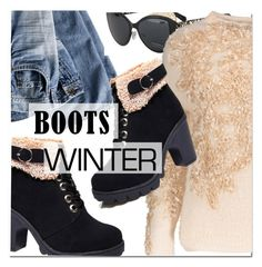 """Winter boots"" by paculi ❤ liked on Polyvore featuring winterboots"