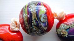 Handmade Lampwork Beads, SRA, Khaosbeads