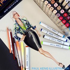 Illustration by Paul Keng | Plus Size Woman - You can view new artwork @paulkengofficial