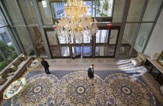 """For sale sign on the White House: """"About 100 foreign diplomats, from Brazil to Turkey, gathered at the Trump International Hotel this week to sip Trump-branded champagne, dine on sliders and hear a sales pitch about the U.S. president-elect's newest hotel."""""""