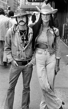 Sonny and Cher..I watched their television show from beginning to end and loved the free spirited style they had and Cher still has. I emulated her Boho fashion for years and still do.