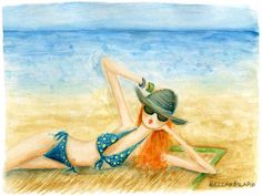 vacation.quenalbertini: Beach day by Bella Pilar