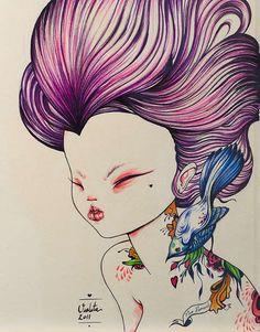 Foxy Harajuku Illustrations : Artist Violeta Hernandez