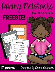 Poetry Notebooks for First Grade Freebie - Free poems for your poetry notebooks! Includes many fall themed poems and short vowels! First Grade Poems, First Grade Freebies, First Grade Writing, 2nd Grade Reading, First Grade Classroom, Kindergarten Poetry, Teaching Poetry, Poetry Unit, Writing Poetry
