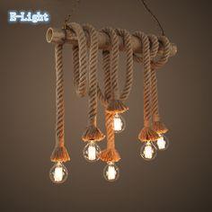 Cuerda Vintage luces pendientes lámpara Loft personalidad creativa lámpara Industrial Edison americana para sala de estar decoración