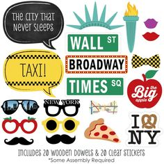 Amazon.com: New York - Photo Booth Props Kit - 20 Count: Toys & Games