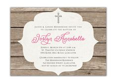 {Joslyn} Baptism Invitation Rustic Christening by digibuddhaPaperie on Etsy, $15.00  http://www.etsy.com/listing/84809896/baptism-invitation-rustic-christening