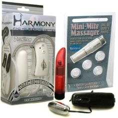 Doc Johnson Harmony Divine White Pearl Wireless Wonder 7 Function Wireless Bullet Vibrator Adult Sex Toy Kit by Doc Johnson. $72.33. Egg Bullet Vibrator $19.99 Retail Value! This powerful and versatile silver bullet vibrator is a easy choice as a stimulator.. 6 Inch Lady Finger Vibrator Massager $19.99 Retail Value! The crystal-clear choice for women who want a travel-size, cordless vibrator. It delivers stimulating vibrations in variable speeds and still fits ...