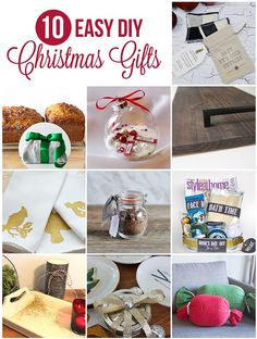 10 Easy and quick DIY Christmas Gift Ideas via http://lifeovereasy.com/