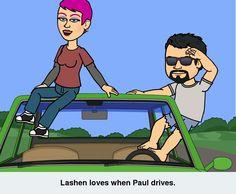 Paul drives