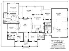 The Louisiana Floor Plan-that boat garage looks like a good wood shop area.