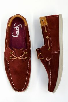 Suede deck shoe $109.99 available at Roger David