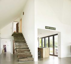 modern farm cottage renovation feature staircase stairs