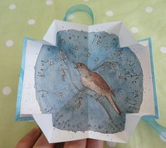 A Love Token  Nightingale Origami Poem Book by BearsGetCrafty