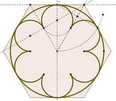Ejemplos para hacer o un rosetón gótico o una vidriera aplicando lo aprendido de tangencias