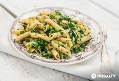 Borsós-spenótos penne Penne, Pasta Salad, Green Beans, Potato Salad, Main Dishes, Food And Drink, Vegetables, Cooking, Ethnic Recipes