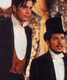 Ewan McGregor as the poor writer, and John Leguizamo as Toulouse-Lautrec in Moulin Rouge